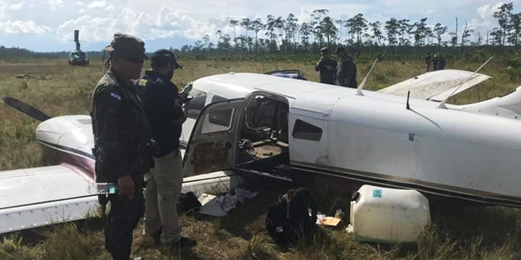 La aeronave fue encontrada en una planicie de Brus Laguna, Gracias a Dios.