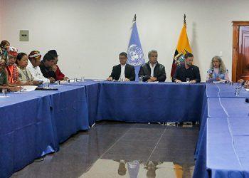 El dirigente del movimiento indígena de Ecuador, Jaime Vargas, pidió al presidente Lenín Moreno que derogue el decreto 883, que elimina el subsidio a las gasolinas.(LASSERFOTO  AFP)