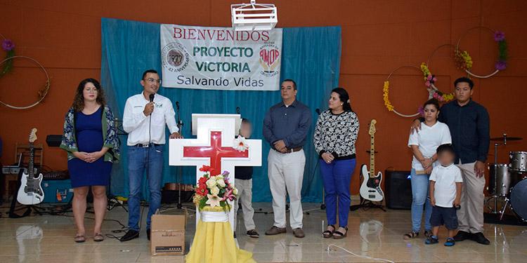 El aniversario del Proyecto Victoria fue celebrado con un culto cristiano y dramatizaciones de los jóvenes.