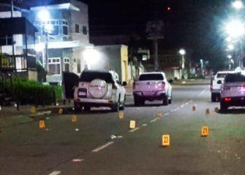 La balacera se produjo en horas de la madrugada y se decomisaron los vehículos para efecto de investigación.
