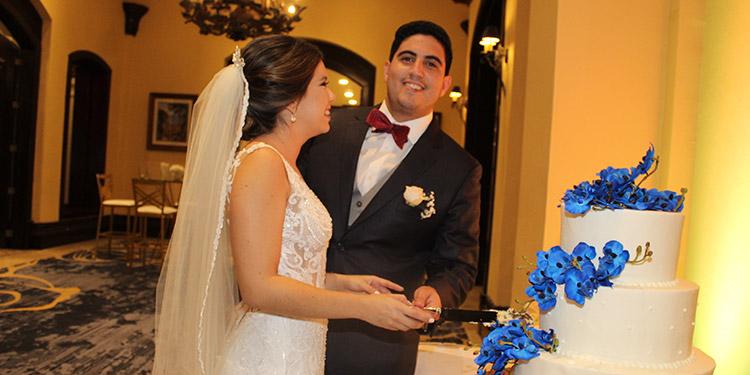 Douglas  y Florencia celebraron su boda en el Hotel Clarion de Tegucigalpa.