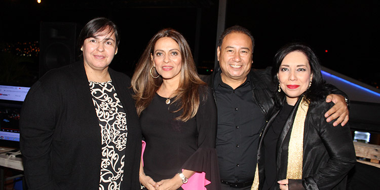 Concepción Sierra, Walkiria Flores, Dennis Villalta, Diana Mejía