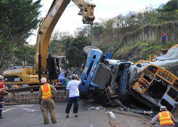 Durante este año 2,707 personas han salido lesionada en accidentes viales.