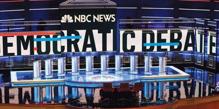 Todo listo para el debate demócrata en Atlanta.