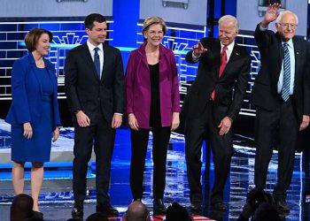 Debate demócrata en Atlanta.
