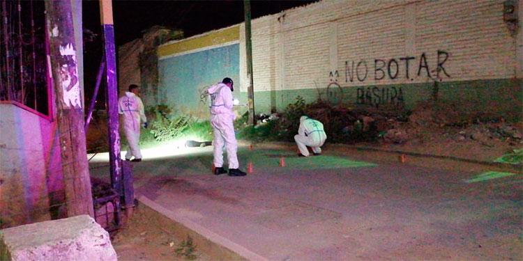 Antony Juan Carlos Aguilar Euceda quedó muerto en plena vía pública, a metros de la posta policial de la San Miguel.