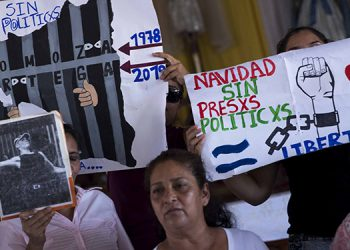 """Diez madres de """"presos políticos"""" de Nicaragua y una conocida opositora iniciaron el jueves una huelga de hambre indefinida, hasta que el presidente Daniel Ortega ordene la libertad de sus hijos."""