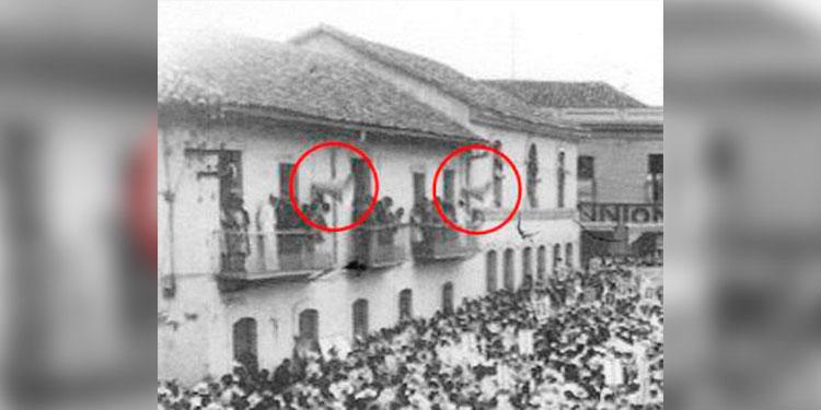 1 Edificio del TSC, contiguo el Museo Nacional y los círculos señalan las enormes bocinas de la HRN.