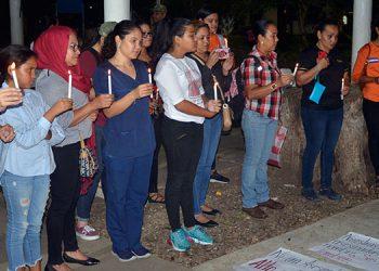 Danlí protesta por los femicidios y por el silencio de las autoridades