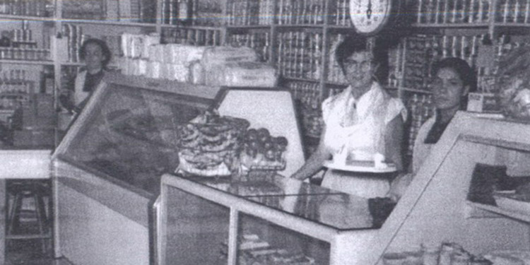 Histórica. Interior de la tienda Yu- Shan en un pasado. Ahí por la zona de Los Dolores.