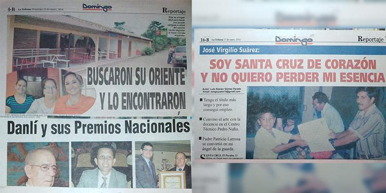 Imágenes de los reportajes diversos cada domingo.
