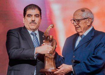 """La CCIC bautizó como """"El Forjador del Siglo"""" al destacado hondureño en el mundo empresarial, Jorge Bueso Arias."""