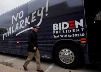 Joe Biden recorre el país en este autobús.