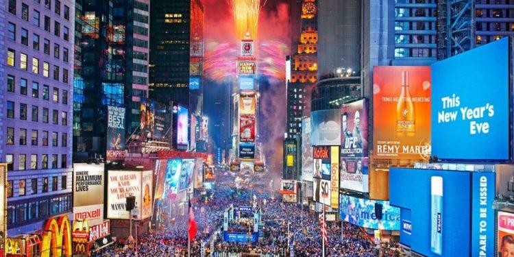 Celebración de fin de año en Nueva York.