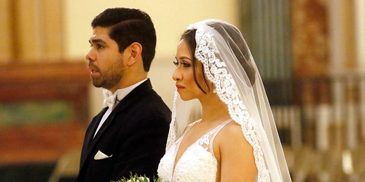 David e Ivonne se casaron en la basílica de Suyapa de Tegucigalpa.