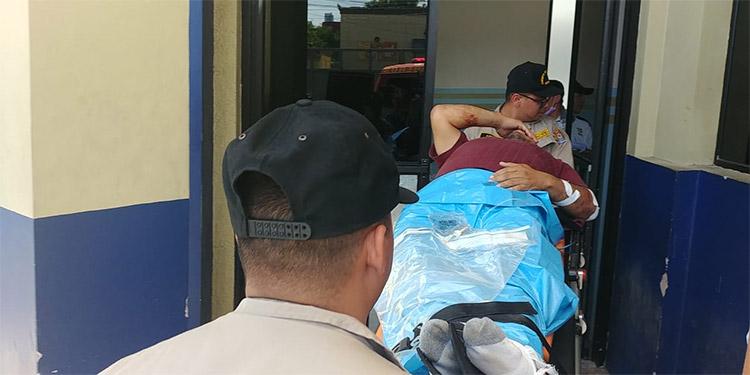 De milagro se salvó de morir esta persona a un atentado criminal en Támara, Distrito Central.