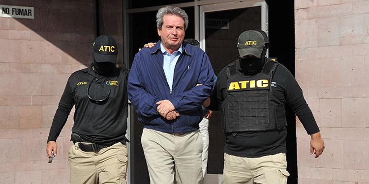 Una de las capturas de alto impacto realizada por la ATIC, fue contra el expresidente del CAH, Olvin Mejía.