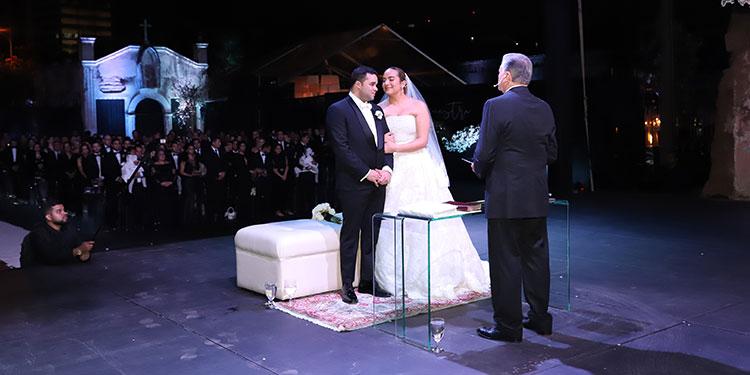 Angella y Rafael Omar fueron declarados marido y mujer por el pastor Evelio Reyes.
