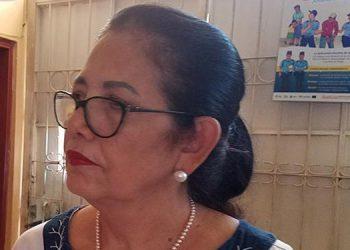 Cordelia Lagos, directora de la OMM, en Choluteca.