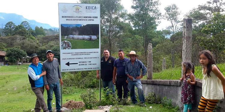 El profesor de desarrollo rural, Hangui Park, mediante el proyecto de instalación de procesamiento y secado de café capacitó a 1,300 personas lencas, de la aldea Montaña Verde, Lempira.