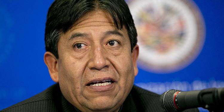 David Choquehuanca fue canciller de Bolivia durante el mandato de Evo Morales.