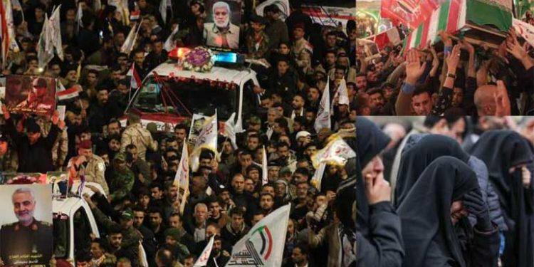 Entierro del general Soleimani en Teherán.