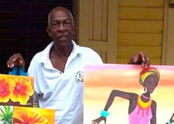 El pintor teleño Cruz Bermúdez pondrá en alto el nombre de Honduras al exhibir sus obras en el Coloquio Internacional El Caribe, que se realizará en México.