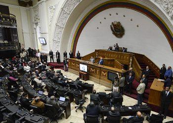 Sesión parlamentaria de este martes en Caracas, Venezuela.