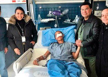 Wilson José Berríos (18) ya está siendo atendido en el Hospital Shriners de Boston, Massachusetts.
