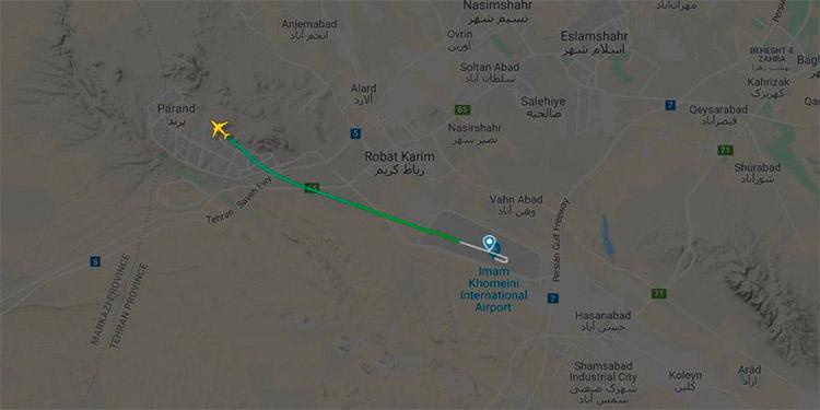 Se estrella avión ucraniano con 180 pasajeros cerca del aeropuerto de Teherán