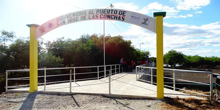 A un costo de 900 mil lempiras fue construido el muelle en la comunidad de San José de Las Conchas, Marcovia, Choluteca.