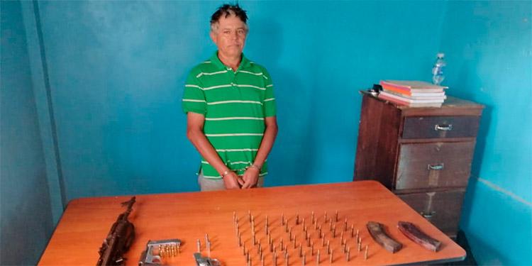 Eduardo Enrique Lanza Lozano es sindicado de tenencia de munición y arma de fuego de uso prohibido y fue puesto a la orden del Ministerio Público.