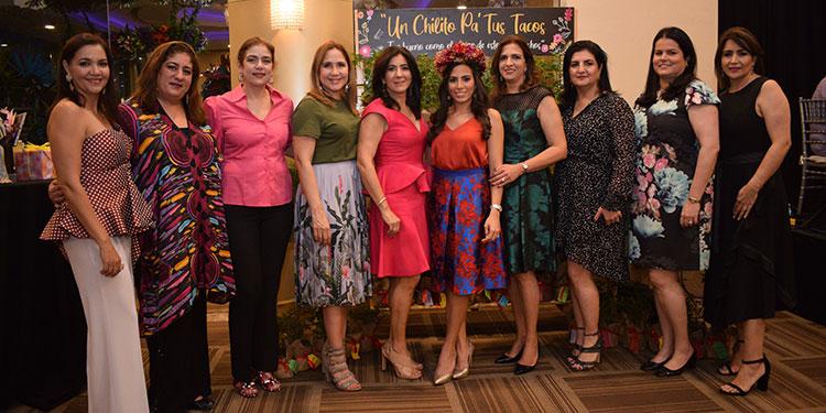 Las oferentes ofrecieron una entretenida fiesta al estilo  mexicano a Siham Handal, quien pronto contraerá nupcias.