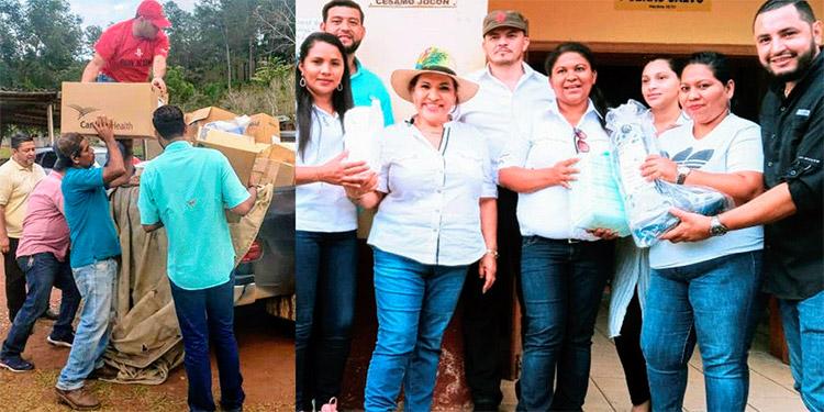 La diputada Aída Reyes, confía en conseguir más donativos para el resto de Yoro.
