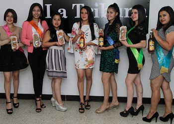 Charlize Rodríguez, Daniela Orellana, Christell Sánchez, Marjory Rodríguez, Andrea Zelaya, Pamela Galo y Tania Hernández, buscan ser madrian del Festival de la Naranja.