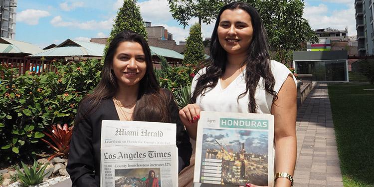 Gabriela León y Erika Gómez viajaron a Honduras por la relación que tiene el país con los Estados Unidos en el contexto comercial y de alianzas estratégicas.