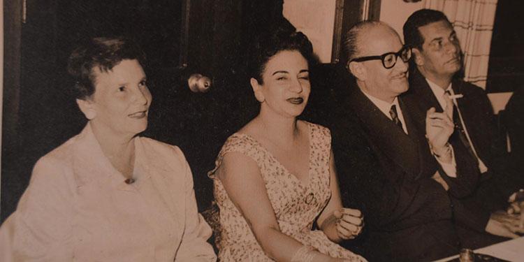 Celina Gamero de Sevilla, Alejandrina Bermúdez de Villeda Morales, Ramón Villeda Morales, durante una visita a esta ciudad.