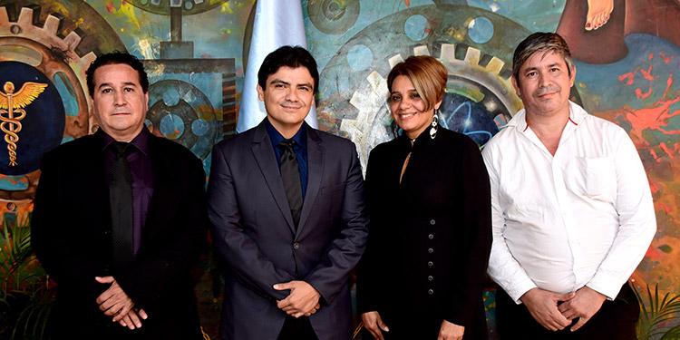 Alberto Destéphen, Giuseppe Antonio Vijil, Sonia Molina, Óscar Sierra.