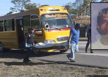 José Adalberto Armas Jarquín murió tiroteado al interior de una unidad de transporte que cubre la ruta Ciudad España–Mercado, con registro PDV 59814.