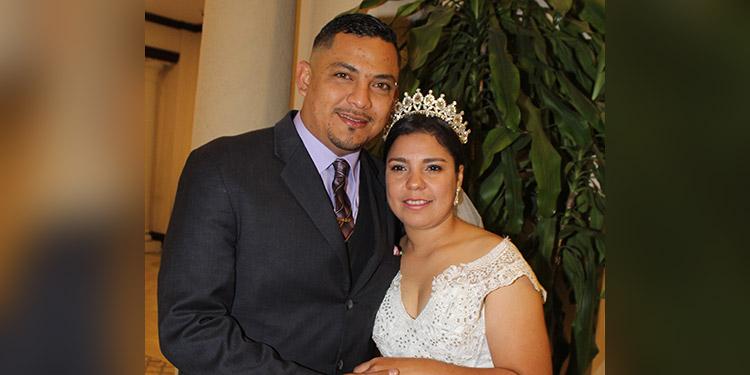 Noé Fernando Iscoa y Emma Nereida Pereira se casaron el 25 de enero.