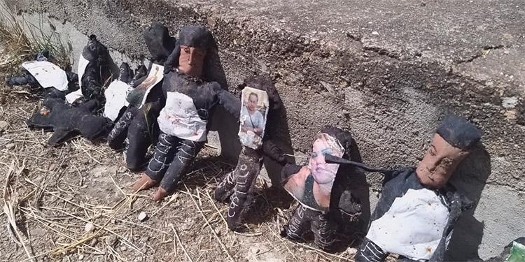 Los pichingos tienen fotografías de caras de hombres y mujeres.