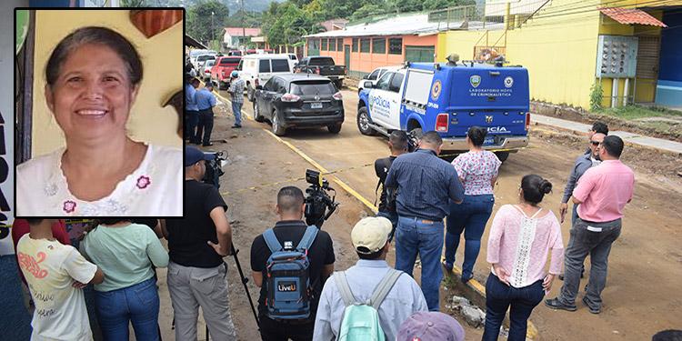 Las autoridades se trasladaron hasta la escena del crimen para el reconocimiento de ley.