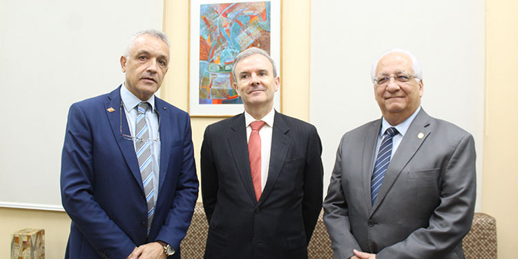 Juan José Santos,  Guillermo Kirkpatrick, Francisco Hererra.