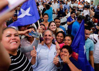 El alcalde capitalino se comprometió a trabajar por Honduras ante sus partidarios.