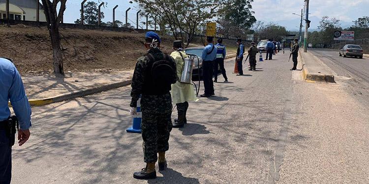 Fuerte operativos de control ejecuta la Policia Nacional de Honduras y el Primer Batallón de Ingenieros