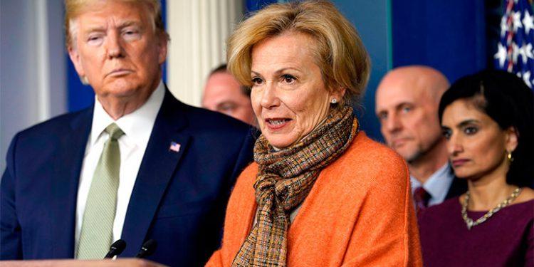 Donald Trump y la doctora Debora Brix