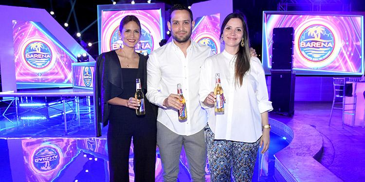 Nilcer Pineda, Kervin García, Jina Prince.