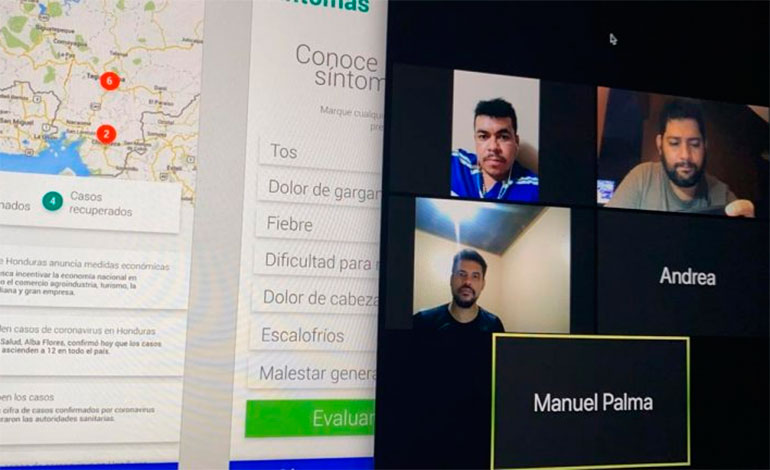 Exalumnos del Honduras Digital Challenge desarrollan app para dar un mejor manejo del COVID-19