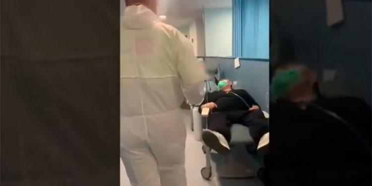Colapsado hospital de España por tantos casos de coronavirus (Video)