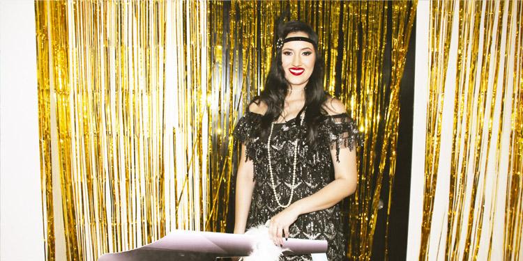 Laura Raquel Durón disfrutó a lo grande de la fiesta temática.